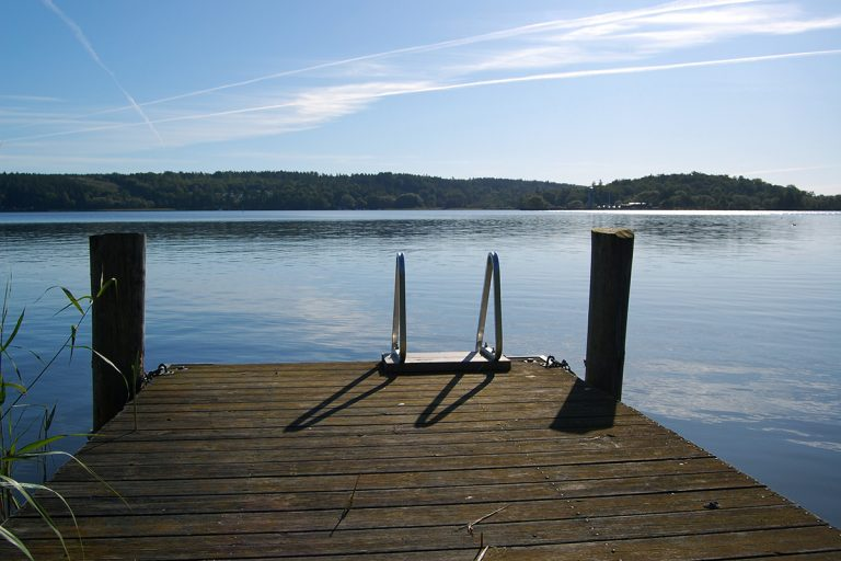 The jetty at Ulvhäll's Manor summer